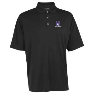 Northwestern Widcats Antigua  Men's Black Polo Shirt    Exceed 100209