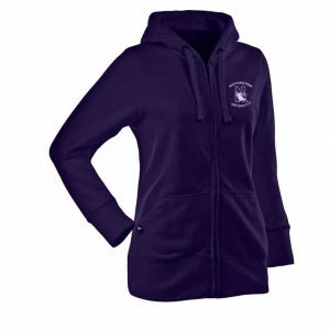 Northwestern Widcats Antigua  Women's Purple Zip Hood    Women's Signature Hood 100223