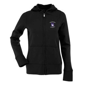 Northwestern Widcats Antigua  Women's Black Zip Hood    Women's Signature Hood 100224