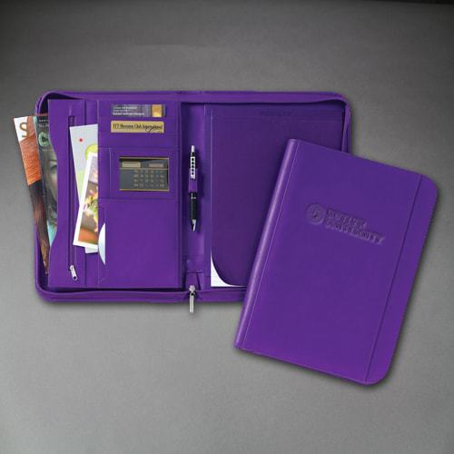 Northwestern Widcats Purple Zippered Portfolio