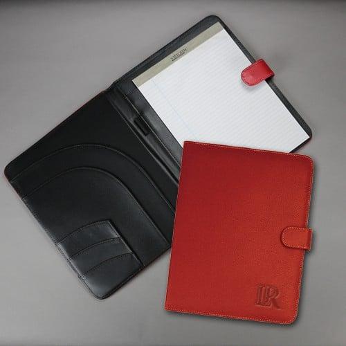 Northwestern Widcats Black Faux Litchi Leather Portfolio