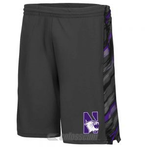 Northwestern Wildcats Colosseum Men's Black Mustang Short