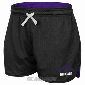Northwestern Wildcats Colosseum Women's Black Twist Mesh Short