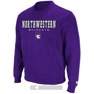 Northwestern Wildcats Colosseum Men's Purple Automatic Crewneck