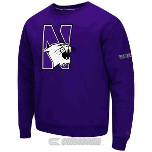 Northwestern Wildcats Colosseum Men's Purple Zone Crewneck