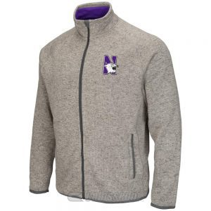 Northwestern Wildcats Colosseum Men's Heather Grey Backcountry Jacket