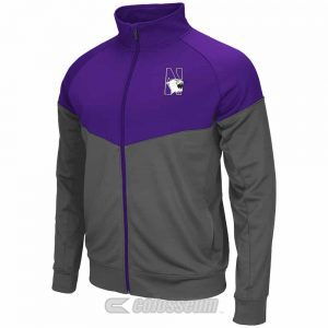 Northwestern Wildcats Colosseum Men's Purple / Charcoal Charge Jacket