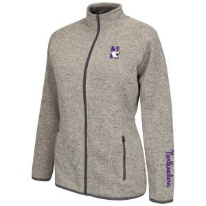Northwestern Wildcats Colosseum Women's Heather Avalanche Jacket