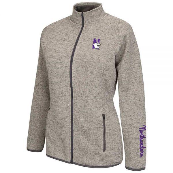 Northwestern Wildcats Colosseum Women's Heather Avalanche Jacket