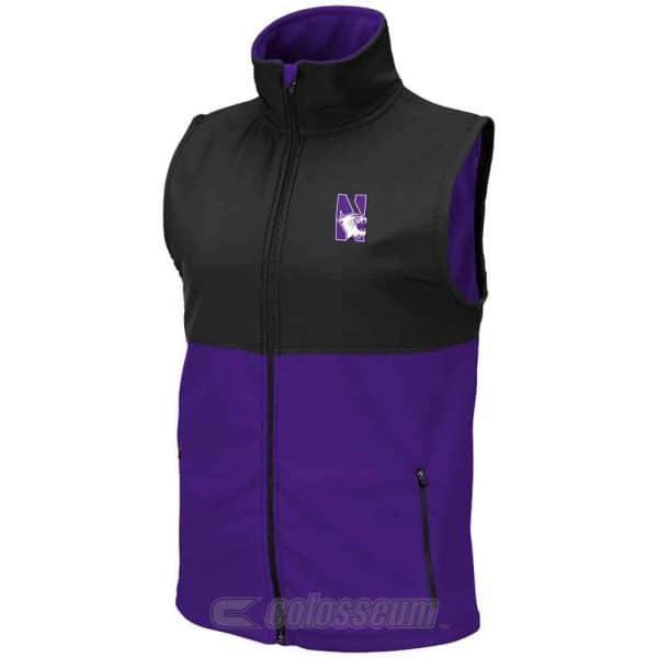 Northwestern Wildcats Colosseum Men's Purple/Black Halfpipe Vest