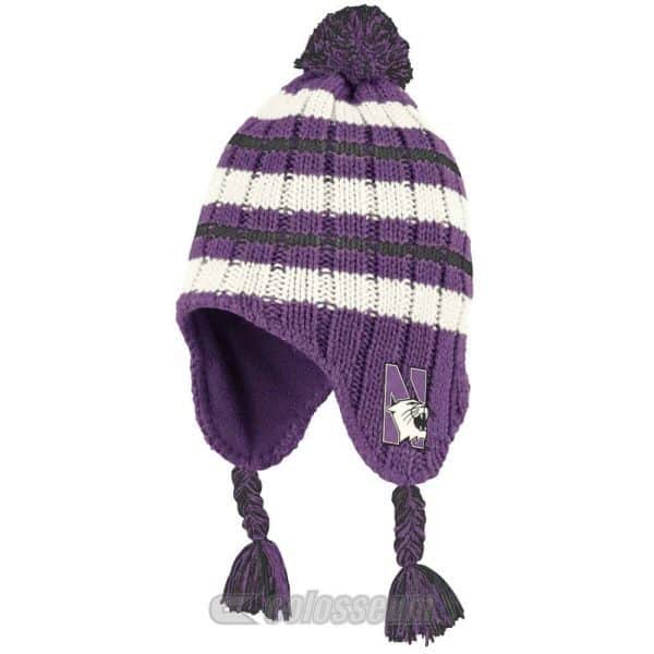 Northwestern Wildcats Colosseum Infant Iceberg Tassel Beanie