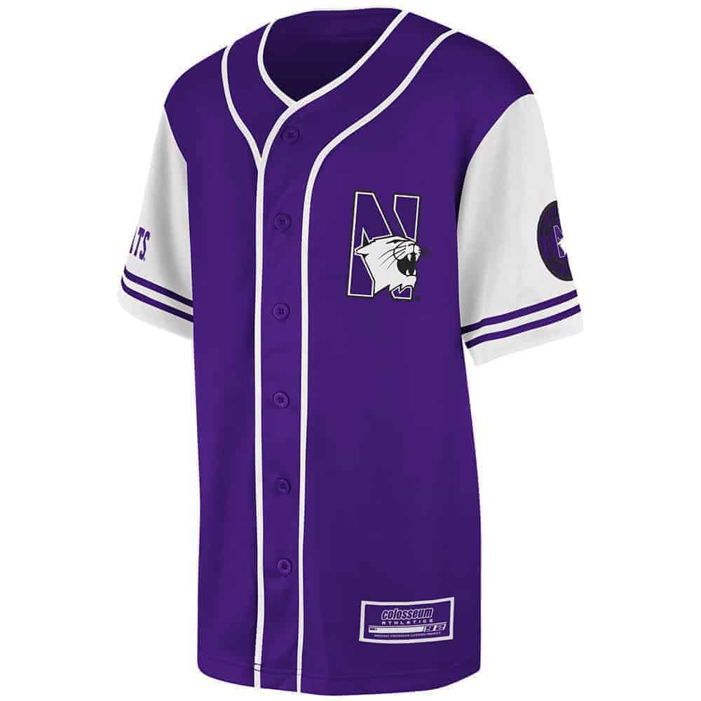 100% authentic a2ac5 0e65d Northwestern University Wildcats Colosseum Youth Purple Rally Baseball  Jersey