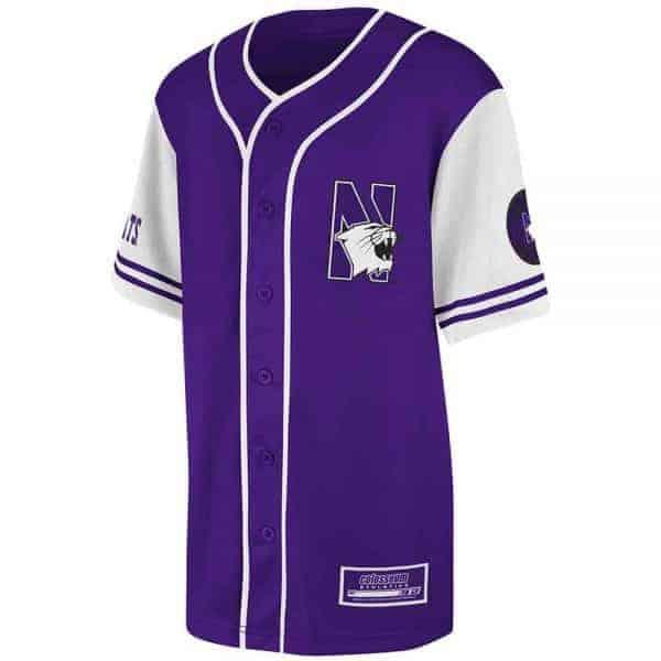 Northwestern Wildcats Colosseum Men's  Purple Rally Baseball Jersey