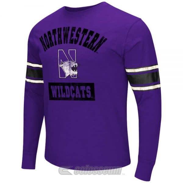 Northwestern Wildcats Colosseum Men's Mentor Purple Long Sleeve Tee