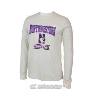 Northwestern Wildcats Colosseum Men's Sage Waffle Long Sleeve Tee
