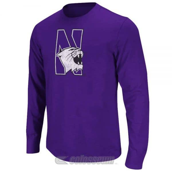 Northwestern Wildcats Colosseum Men's Touchdown Long Sleeve Tee