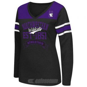 Northwestern Wildcats Colosseum Women's Player Long Sleeve V-Neck Tee