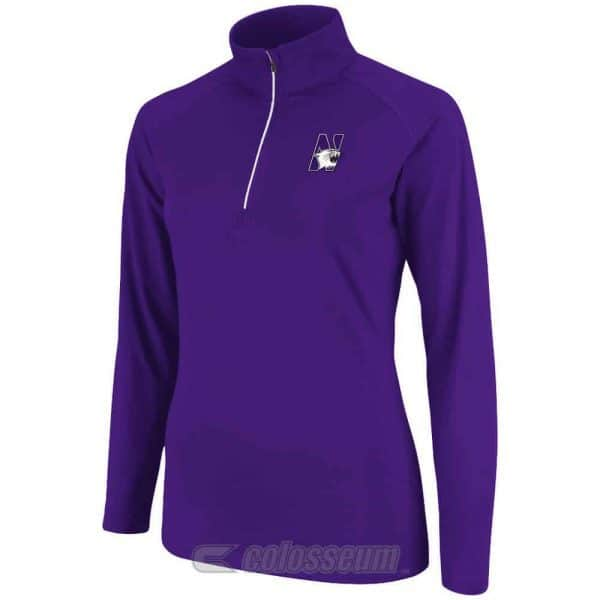 Northwestern Wildcats Colosseum Women's Breeze 1/4 Zip Long Sleeve Tee