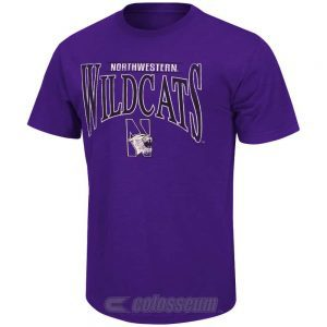 Northwestern Wildcats Colosseum Men's Pintail Short Sleeve Tee
