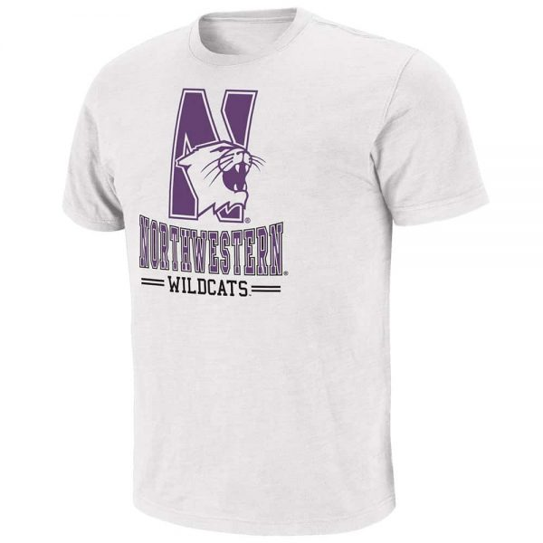 Northwestern Wildcats Colosseum Men's Backfield Short Sleeve Tee Shirt