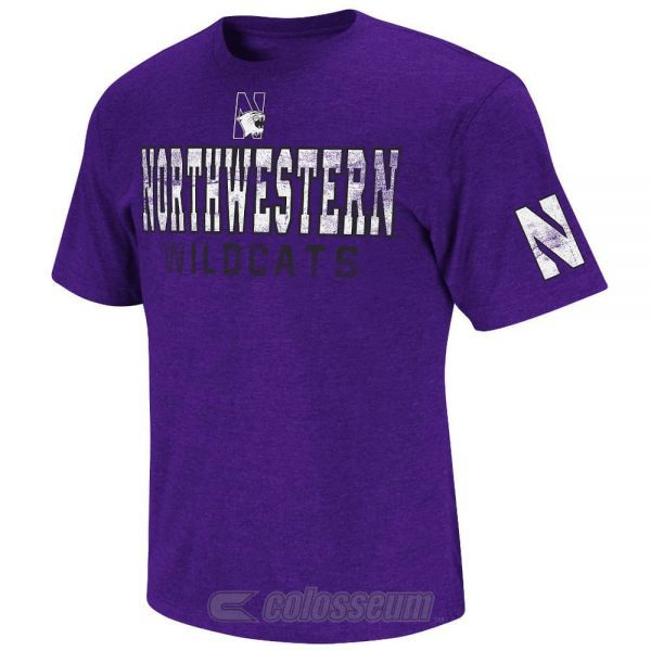 Northwestern Wildcats Colosseum Men's Sprint Short Sleeve Tee Shirt