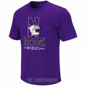 Northwestern Wildcats Colosseum Men's Spiral Short Sleeve Tee Shirt