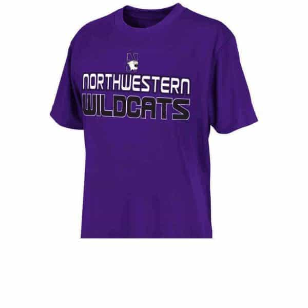 Northwestern Wildcats Colosseum Youth Safety Poly Short Sleeve Tee Shirt