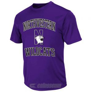 Northwestern Wildcats Colosseum Men's Rival Poly Short Sleeve Tee Shirt