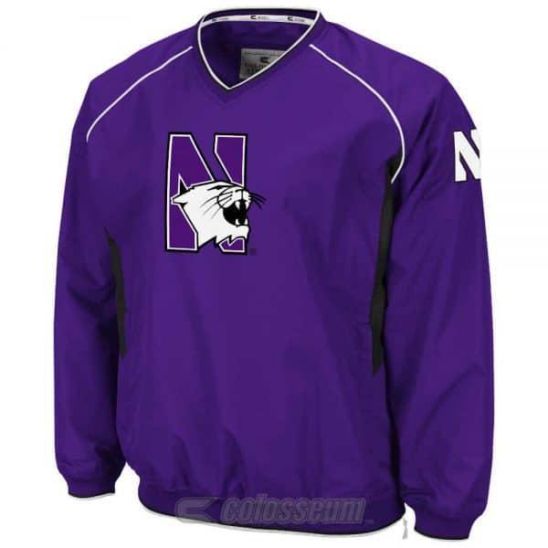 Northwestern Wildcats Colosseum Men's Purple Pitch Pullover Jacket