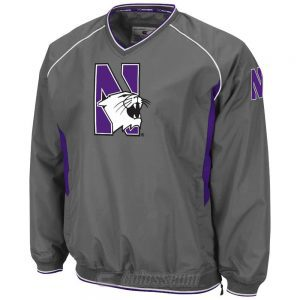 Northwestern Wildcats Colosseum Men's Charcoal Pitch Pullover Jacket