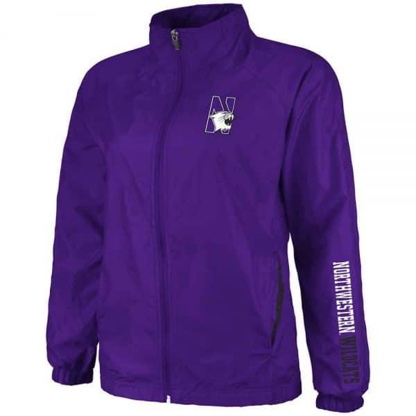 Northwestern Wildcats Colosseum Women's Purple Breeze Jacket