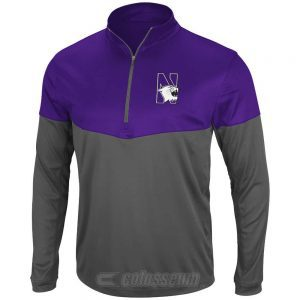Northwestern Wildcats Colosseum Men's Hornet 1/4-Zip Light weight Jacket