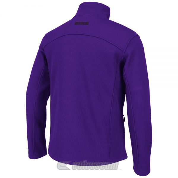 Northwestern Wildcats Colosseum Men's Purple Plow II 1/4-Zip  Jacket