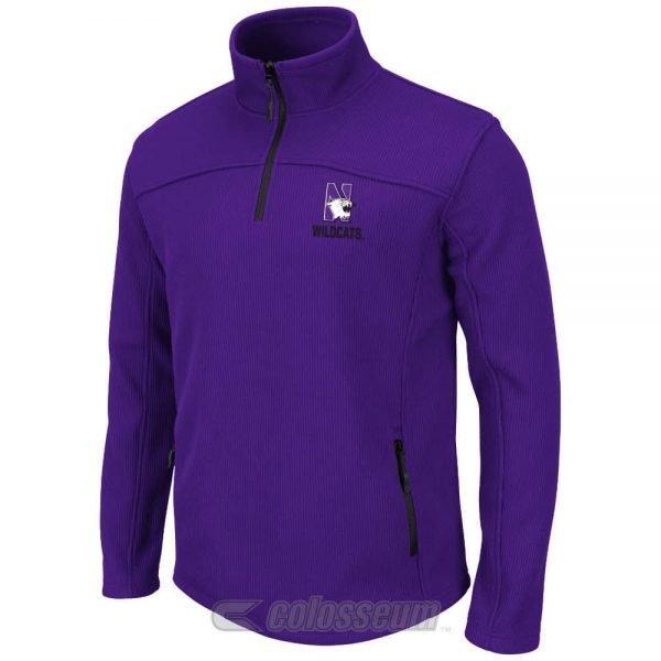 Northwestern Wildcats Colosseum Men's Purple Plow II 1/4-Zip  Jacket
