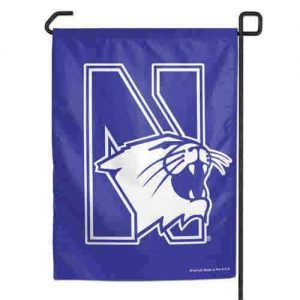 Northwestern Wildcats Purple Garden Flag with N-Cat Design