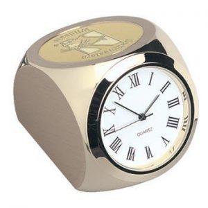 Northwestern Wildcats Mascot Design Gold Medallion Monaco Gold Clock