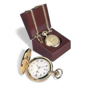 Northwestern Wildcats Mascot Design Gold Medallion Men's Pocket Watch