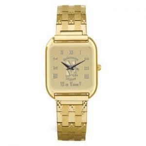 Northwestern Wildcats Mascot Design Gold Medallion Mens Wristwatch
