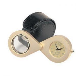 Northwestern Wildcats Mascot Design Gold Medallion Magna Desk Clock