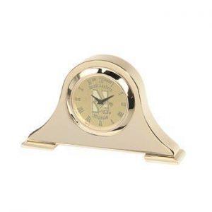 Northwestern Wildcats Mascot Design Gold Medallion Napoleon Desk Clock