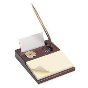 Northwestern Wildcats Mascot Design Gold Medallion Desk Organizer Clock