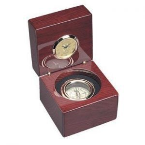 Northwestern Wildcats Mascot Design Gold Medallion Compass Clock
