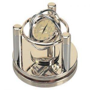 Northwestern Wildcats Mascot Design Gold Medallion Gimball Desk Clock