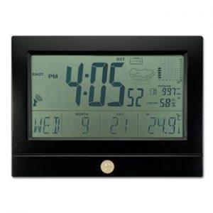 Northwestern Wildcats Mascot Design Gold Medallion Wall Clock Weather Station