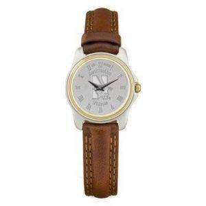 Northwestern Wildcats Mascot Design Silver Medallion Ladies Wristwatch