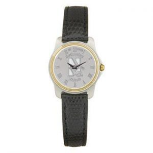 Northwestern Wildcats Mascot Design Silver Medallion Ladies Wristwatch