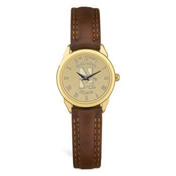 Northwestern Wildcats Mascot Design Gold Medallion Ladies Wristwatch
