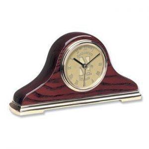 Northwestern Wildcats Mascot Design Gold Medallion Napoleon II Mantle Clock