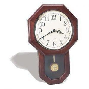 Northwestern Wildcats Mascot Design Gold Medallion Pendulum Wall Clock