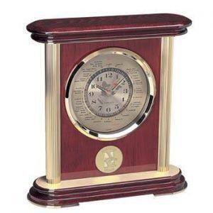 Northwestern Wildcats Mascot Design Gold Medallion World Time Clock